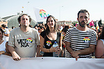 Politicians Guillermo Zapata and Rita Maestre attends to the protest during Gay Pride celebrations in Madrid, Spain. July 04, 2015.<br />  (ALTERPHOTOS/BorjaB.Hojas)