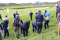 Rory McIlroy Team Europe looks for his ball in the deep rough off the 9th tee during Friday's Fourball Matches at the 2018 Ryder Cup, Le Golf National, Iles-de-France, France. 28/09/2018.<br /> Picture Eoin Clarke / Golffile.ie<br /> <br /> All photo usage must carry mandatory copyright credit (© Golffile | Eoin Clarke)