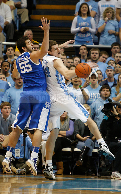 Josh Harrellson during the game against North Carolina on Dec. 4, 2010.  Photo by Latara Appleby | Staff