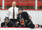 Jeff Kampersal (Princeton - Head Coach) - The Harvard University Crimson defeated the visiting Princeton University Tigers 4-0 on Saturday, October 26, 2013, at Bright-Landry Hockey Center in Cambridge, Massachusetts.