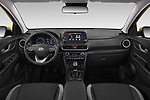 Stock photo of straight dashboard view of a 2018 Hyundai Kona Twist 5 Door SUV