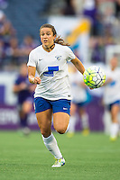 Orlando, FL - Sunday July 10, 2016: Stephanie McCaffrey during a regular season National Women's Soccer League (NWSL) match between the Orlando Pride and the Boston Breakers at Camping World Stadium.
