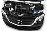 Car Stock 2017 Mercedes Benz Sprinter-Crew-Van 2500-170-WB-High-Roof 4 Door Combi Engine  high angle detail view