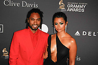 BEVERLY HILLS, CA- FEBRUARY 09: Miguel and Nazanin Mandi at the Clive Davis Pre-Grammy Gala and Salute to Industry Icons held at The Beverly Hilton on February 9, 2019 in Beverly Hills, California.      <br /> CAP/MPI/IS<br /> &copy;IS/MPI/Capital Pictures
