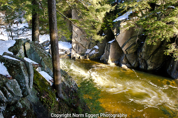 The Westfield River flows through the Chesterfield Gorge in Chesterfield, MA