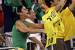 10 AUG 2010: Brazil fans celebrate a goal. The United States Men's National Team lost to the Brazil Men's National Team 0-2 at New Meadowlands Stadium in East Rutherford, New Jersey in an international friendly soccer match.