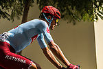 Reto Hollenstein (SUI) Team Katusha Alpecin before Stage 6 of the 10th Tour of Oman 2019, running 135.5km from Al Mouj Muscat to Matrah Corniche, Oman. 21st February 2019.<br /> Picture: ASO/K&aring;re Dehlie Thorstad | Cyclefile<br /> All photos usage must carry mandatory copyright credit (&copy; Cyclefile | ASO/K&aring;re Dehlie Thorstad)