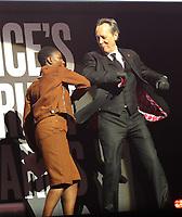 11/03/2020 - Michaela Coel and Richard E Grant at The Princes Trust Awards 2020 At The London Palladium. Photo Credit: ALPR/AdMedia