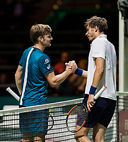 ABN AMRO World Tennis Tournament, 13 Februari, 2018, Tennis, Ahoy, Rotterdam, The Netherlands, David Goffin (BEL), Nicolas Mahut (FRA)<br /> <br /> Photo: www.tennisimages.com
