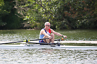 Race: 84  MasD.1x  Semi-Final<br /> 53  Royal Air Force Rowing Club (Ellis)<br /> 54  Quintin Boat Club (Almand)<br /> <br /> Henley Masters Regatta 2018 - Friday<br /> <br /> To purchase this photo, or to see pricing information for Prints and Downloads, click the blue 'Add to Cart' button at the top-right of the page.