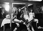 VAN HALEN, BACKSTAGE, 1980, NEIL ZLOZOWER