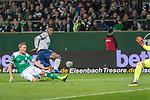 08.03.2019, Weser Stadion, Bremen, GER, 1.FBL, Werder Bremen vs FC Schalke 04, <br /> <br /> DFL REGULATIONS PROHIBIT ANY USE OF PHOTOGRAPHS AS IMAGE SEQUENCES AND/OR QUASI-VIDEO.<br /> <br />  im Bild<br /> <br /> auf dem weg zum 0:1 Breel Embolo (FC Schalke 04 #36) gegen Ludwig Augustinsson (Werder Bremen #05)<br /> <br /> Foto &copy; nordphoto / Kokenge