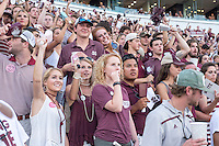Game Day: MSU Football versus South Carolina.<br /> Students watch game<br />  (photo by Robert Lewis / &copy; Mississippi State University)
