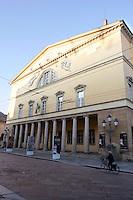 La facciata del Teatro Regio di Parma.<br /> The main front of the Teatro Regio in Parma.<br /> UPDATE IMAGES PRESS/Riccardo De Luca