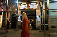 The marquee of the Gotham Comedy Club in Chelsea in New York on Thursday, September 4, 2014 displays a memorial to the late Joan Rivers. The comedienne passed away today at Mt. Sinai Hospital a week after being admitted with complications from a throat procedure. (© Richard B. Levine)
