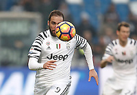 Calcio, Serie A: Sassuolo vs Juventus. Reggio Emilia, Mapei Stadium, 29 gennaio 2017. <br /> Juventus' Gonzalo Higuain in action during the Italian Serie A football match between Sassuolo and Juventus at Reggio Emilia's Mapei stadium, 29 January 2017<br /> UPDATE IMAGES PRESS/Isabella Bonotto