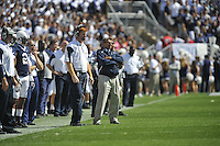 18 September 2010:  Penn State WRs coach Mike McQueary and head coach Joe Paterno.  The Penn State Nittany Lions defeated the Kent State Golden Flashes 24-0 at Beaver Stadium in State College, PA..