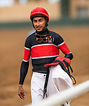 AUG 11: Edwin Maldonado after a race at The Del Mar Thoroughbred Club in Del Mar, California on August 11, 2019. Evers/Eclipse Sportswire/CSM