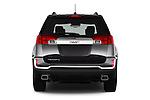 Straight rear view of 2016 GMC Terrain SLT 5 Door SUV Rear View  stock images