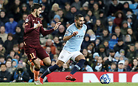 Manchester City's Ilkay Gundogan vies for possession with 1899 Hoffenheim's Florian Grillitsch<br /> <br /> Photographer Rich Linley/CameraSport<br /> <br /> UEFA Champions League Group F - Manchester City v TSG 1899 Hoffenheim - Wednesday 12th December 2018 - The Etihad - Manchester<br />  <br /> World Copyright © 2018 CameraSport. All rights reserved. 43 Linden Ave. Countesthorpe. Leicester. England. LE8 5PG - Tel: +44 (0) 116 277 4147 - admin@camerasport.com - www.camerasport.com