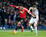 Anthony Martial of Manchester United tussles with James Chester of West Bromwich Albion - English Premier League - West Bromwich Albion vs Manchester Utd - The Hawthorns Stadium - West Bromwich - England - 6th March 2016 - Picture Simon Bellis/Sportimage