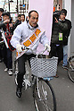 March 24, 2011, Tokyo, Japan - Former Gov. Hideo Higashikokubaru of Miyazaki prefecture, southern Japan, takes to the street in TokyoÅfs Shibuya district on Thursday, March 24, 2011, as official campaigning for gubernatorial elections started in 12 prefectures including Tokyo. The 53-year-old comedian-turned-politician vies for the post against incumbent Shintaro Ishihara among other candidates in the April 11 election. (Photo by Hiroyuki Ozawa/AFLO) [2178] -mis-