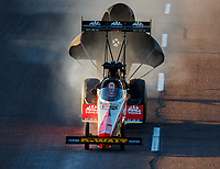 Feb 24, 2018; Chandler, AZ, USA; NHRA top fuel driver Doug Kalitta during qualifying for the Arizona Nationals at Wild Horse Pass Motorsports Park. Mandatory Credit: Mark J. Rebilas-USA TODAY Sports