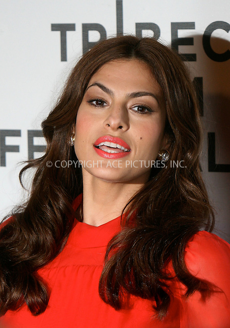 WWW.ACEPIXS.COM . . . . .  ....April 25 2011, New York City....Actress Eva Mendes arriving at the Tribeca Film Festival and Cinema Society premiere of 'Last Night' at BMCC Tribeca PAC on April 25, 2011 in New York City. ....Please byline: NANCY RIVERA- ACEPIXS.COM.... *** ***..Ace Pictures, Inc:  ..Tel: 646 769 0430..e-mail: info@acepixs.com..web: http://www.acepixs.com
