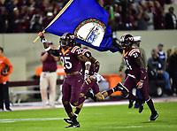 Blacksburg, VA - SEPT 30, 2017:  during game between Clemson and Virginia Tech at Lane Stadium/Worsham Field Blacksburg, VA. (Photo by Phil Peters/Media Images International)