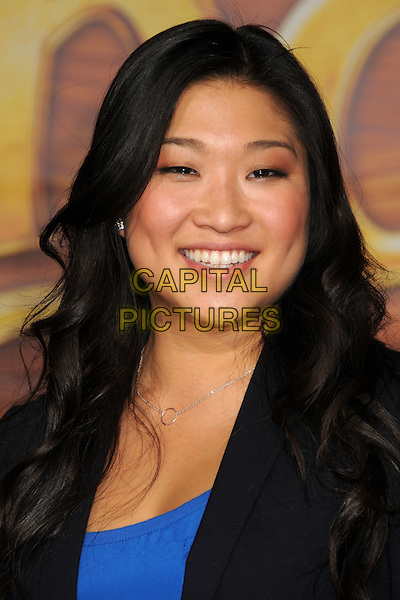 "JENNA USHKOWITZ.""Tangled"" Los Angeles Premiere held at the El Capitan Theatre, Hollywood, California, USA..November 14th, 2010.headshot portrait black blue .CAP/ADM/BP.©Byron Purvis/AdMedia/Capital Pictures."
