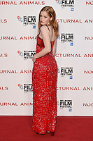 "Ellie Bamber<br /> at the London Film Festival 2016 premiere of ""Nocturnal Animals"" at the Odeon Leicester Square, London.<br /> <br /> <br /> ©Ash Knotek  D3179  14/10/2016"