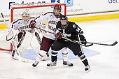 Brian Billett (BC - 1), Isaac MacLeod (BC - 7), Ross Mauermann (PC - 14) - The Boston College Eagles defeated the visiting Providence College Friars 4-1 (EN) on Tuesday, December 6, 2011, at Kelley Rink in Conte Forum in Chestnut Hill, Massachusetts.