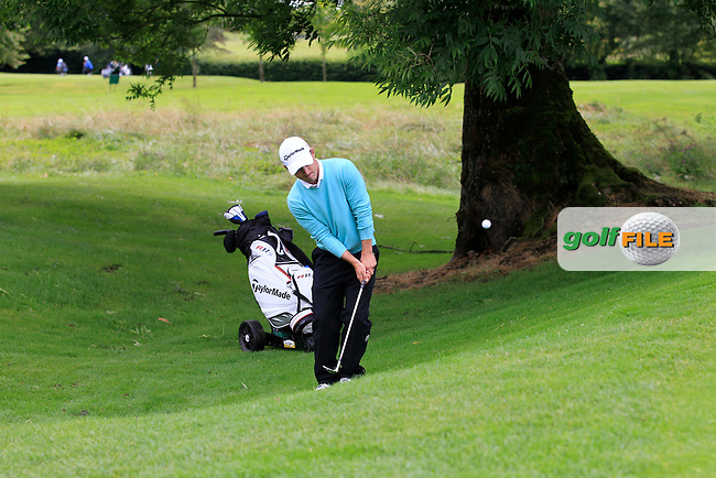 Daniel Holland (Castle) on the 2nd during round 1 of The Mullingar Scratch Cup in Mullingar Golf Club on Sunday 3rd August 2014.<br /> Picture:  Thos Caffrey / www.golffile.ie