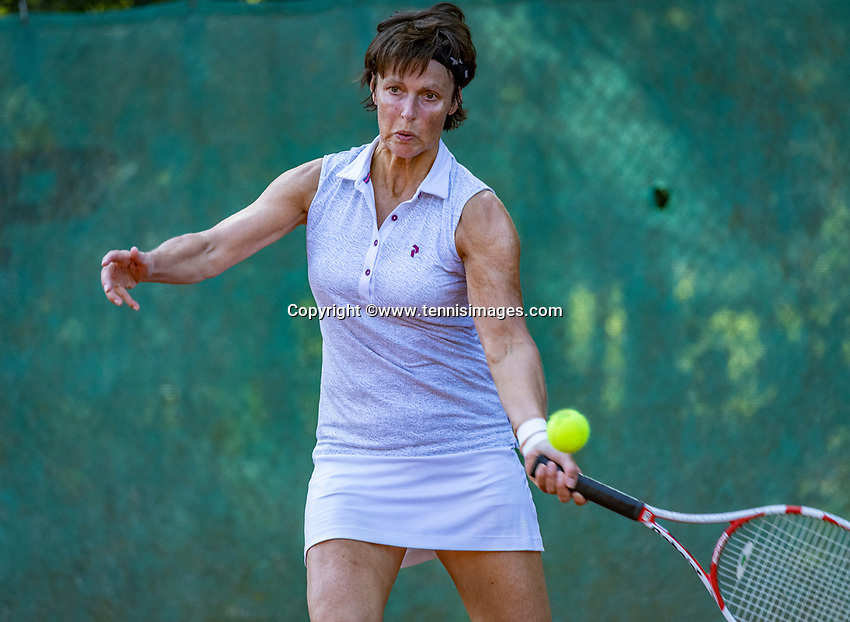 Hilversum, The Netherlands, September 2, 2018,  Tulip Tennis Center, NKS, National Championships Seniors, Women's 55+ final: Irma Leijten (NED) <br /> Photo: Tennisimages/Henk Koster