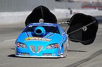 Nov 13, 2010; Pomona, CA, USA; NHRA pro stock driver Rodger Brogdon during qualifying for the Auto Club Finals at Auto Club Raceway at Pomona. Mandatory Credit: Mark J. Rebilas-
