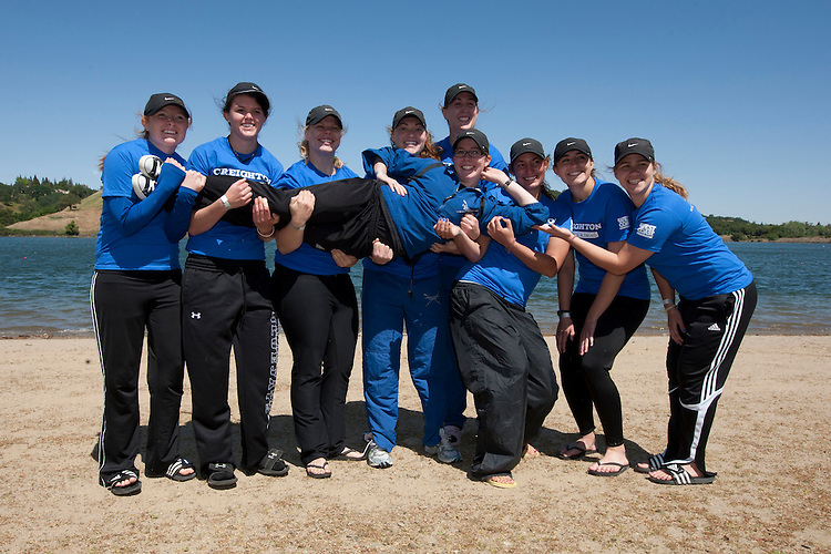 April 29, 2011; Gold River, CA, USA; Creighton Bluejays during the WCC Rowing Championships at Lake Natoma.