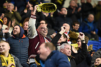 Burton Albion fans celebrate the first goal during the Sky Bet Championship match between Reading and Burton Albion at the Madejski Stadium, Reading, England on 23 December 2017. Photo by Paul Paxford.