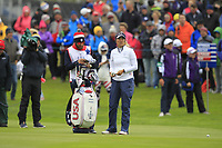 Annie Park of Team USA on the 1st fairway during Day 2 Fourball at the Solheim Cup 2019, Gleneagles Golf CLub, Auchterarder, Perthshire, Scotland. 14/09/2019.<br /> Picture Thos Caffrey / Golffile.ie<br /> <br /> All photo usage must carry mandatory copyright credit (© Golffile | Thos Caffrey)