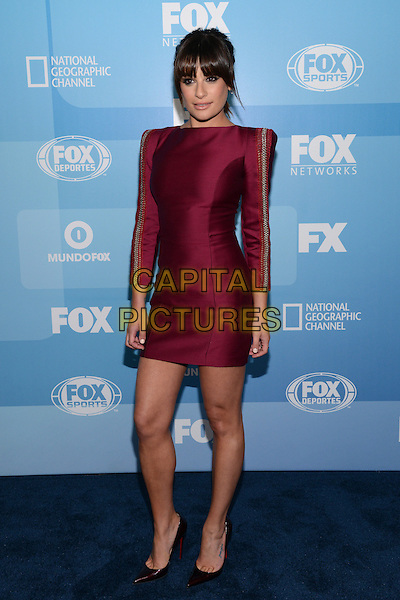 NEW YORK - MAY 11: Actress Lea Michele arrives at the 2015 FOX Programming Presentation Post Party at the Wollman Rink in Central Park on May 11, 2015 in New York City. <br /> CAP/MPI/PGCS<br /> &copy;PGCS/MPI/Capital Pictures