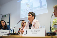 Pressekonferenz der Menschenrechtsorganisation &quot;Terre des Femmes&quot; am Donnerstag den 23. August 2018 in Berlin, anlaesslich ihrer Petition &quot;Den Kopf frei haben!&quot;, die sich fuer ein Verbot des sogenannten &quot;Kinderkopftuch&quot; fuer Maedchen unter 18 Jahren einsetzt. Fuer Terre des Femmes ist das Kinderkopftuch der Missbrauch von Kindern fuer eine Religion und eine Kinderrechtsverletzung.<br /> Ziel der Unterschriftensammlung fuer die Petition sind 100.000 Unterschriften.<br /> Im Bild vlnr.: Nina Coenen, Terre des Femmes; Prof. Dr. Susanne Schroeter, Direktorin des Frankfurter Forschungszentrum Globaler Islam; Seyran Ates, Rechtsanwaeltin und Imamin an der liberalen Ibn-Rushd-Goethe-Moschee in Berlin und Dr. Sigrid Peter, Vizepraesidentin des Bundesverbands des Kinder- und Jugendaerzte.<br /> 23.8.2018, Berlin<br /> Copyright: Christian-Ditsch.de<br /> [Inhaltsveraendernde Manipulation des Fotos nur nach ausdruecklicher Genehmigung des Fotografen. Vereinbarungen ueber Abtretung von Persoenlichkeitsrechten/Model Release der abgebildeten Person/Personen liegen nicht vor. NO MODEL RELEASE! Nur fuer Redaktionelle Zwecke. Don't publish without copyright Christian-Ditsch.de, Veroeffentlichung nur mit Fotografennennung, sowie gegen Honorar, MwSt. und Beleg. Konto: I N G - D i B a, IBAN DE58500105175400192269, BIC INGDDEFFXXX, Kontakt: post@christian-ditsch.de<br /> Bei der Bearbeitung der Dateiinformationen darf die Urheberkennzeichnung in den EXIF- und  IPTC-Daten nicht entfernt werden, diese sind in digitalen Medien nach &sect;95c UrhG rechtlich geschuetzt. Der Urhebervermerk wird gemaess &sect;13 UrhG verlangt.]