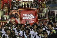 SÃO PAULO, SP, 09.03.2019 - CARNAVAL-SP - Integrantes da escola de samba Dragões da Real Vice- Campeã do Carnaval de São Paulo 2019,  comemoram no desfile das campeãs o titulo de vice campeã do grupo especial de São Paulo na noite deste sábado, 09. (Foto: Nelson Gariba/Brazil Photo Press)