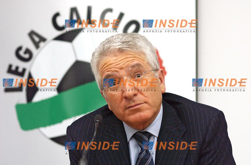 Antonio Mattaresse<br /> 23 Feb.2007<br /> Milano- riunione della Lega Calcio<br /> Antonio Matarrese  durante la conferenza stampa.<br /> Photo Pier Marco Tacca / Inside