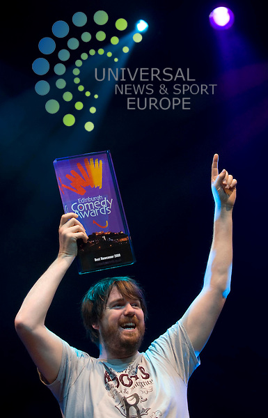Nominations for the Best Bewcomer Comedy Awards 2009 - Pete Johansson announced during the photo call at Pleasance Grand in Edinburgh..27 August 2009.  Picture: Maurice McDonald/Universal News And Sport (Scotland)..................... ........... .