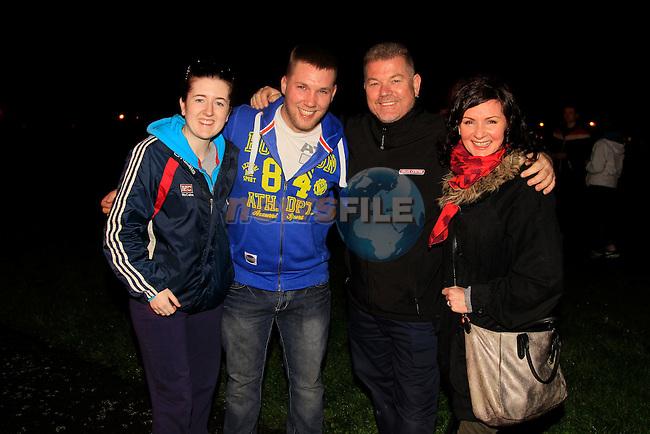 Suzanne Caffrey Sean Dillon, Alan Callaghan and Dara Callaghan at the Halloween Bon Fire Ballsgrove<br /> Picture: www.newsfile.ie