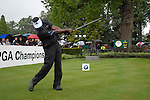 Vijay Singh drives off on the opening hole during the final round of the BMW PGA Championship at Wentworth Club, Surrey, England 27th May 2007 (Photo by Eoin Clarke/NEWSFILE)