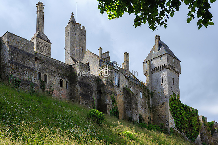 France, Calvados (14), Creully, le château // France, Calvados, Creully, the castle