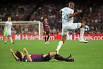 UEFA Champions League 2018/2019 - Matchday 1.<br /> FC Barcelona vs PSV Eindhoven: 4-0.<br /> Arthur vs Denzel Dumfries.