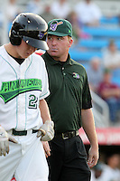 Jamestown Jammers trainer Pat Amorelli during a game vs. the Batavia Muckdogs at Russell Diethrick Park in Jamestown, New York September 1, 2010.   Batavia defeated Jamestown 10-5.  Photo By Mike Janes/Four Seam Images