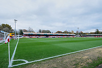 General view of the ground ahead of Crawley Town vs Morecambe, Sky Bet EFL League 2 Football at Broadfield Stadium on 16th November 2019