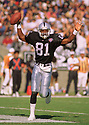 Oakland Raiders Tim Brown (81) during a game from his 1994 season with the Oakland Raiders. Tim Brown played for 17 years with 2 different teams, was a 9-time Pro Bowler and was inducted into the Pro Football Hall of Fame in 2015.(SPORTPICS)